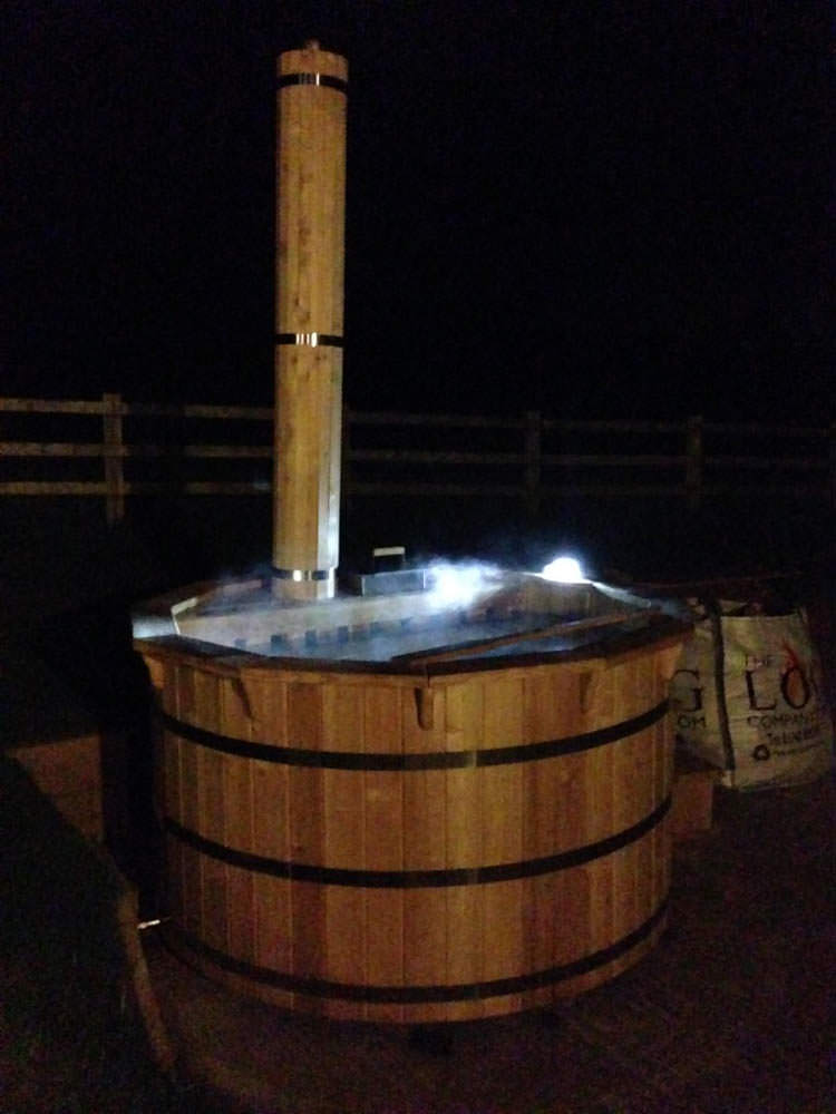 Hire a wood fired hot tub for Wood burning spa