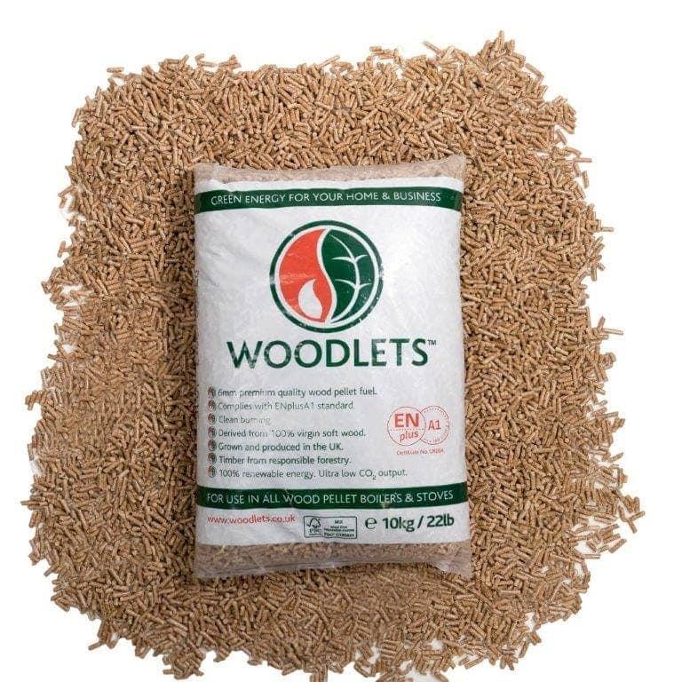 Woodlets biomass wood pellets kg bags thelogcompany